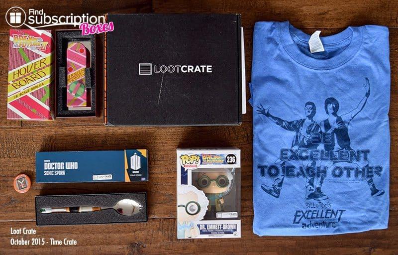 Loot Crate October 2015 Box Review - Box Contents