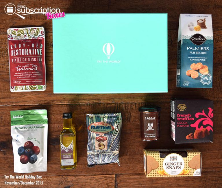 Try The World Holiday Box Review - November/December 2015 - Box Contents