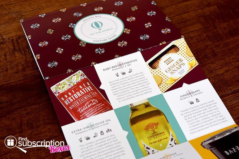 Try The World Holiday Box Review - November/December 2015 - Culture Guide