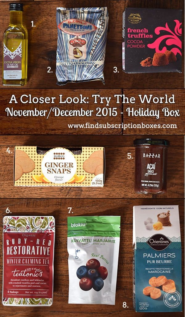 Try The World Holiday Box Review - November/December 2015 - Inside the Box