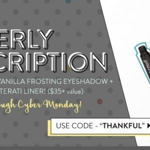Beauty Box 5 Black Friday - Free Eyeshadow & Free Eyeliner
