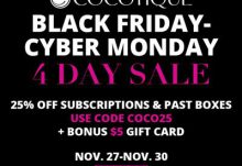 COCOTIQUE Black Friday Cyber Monday Coupon