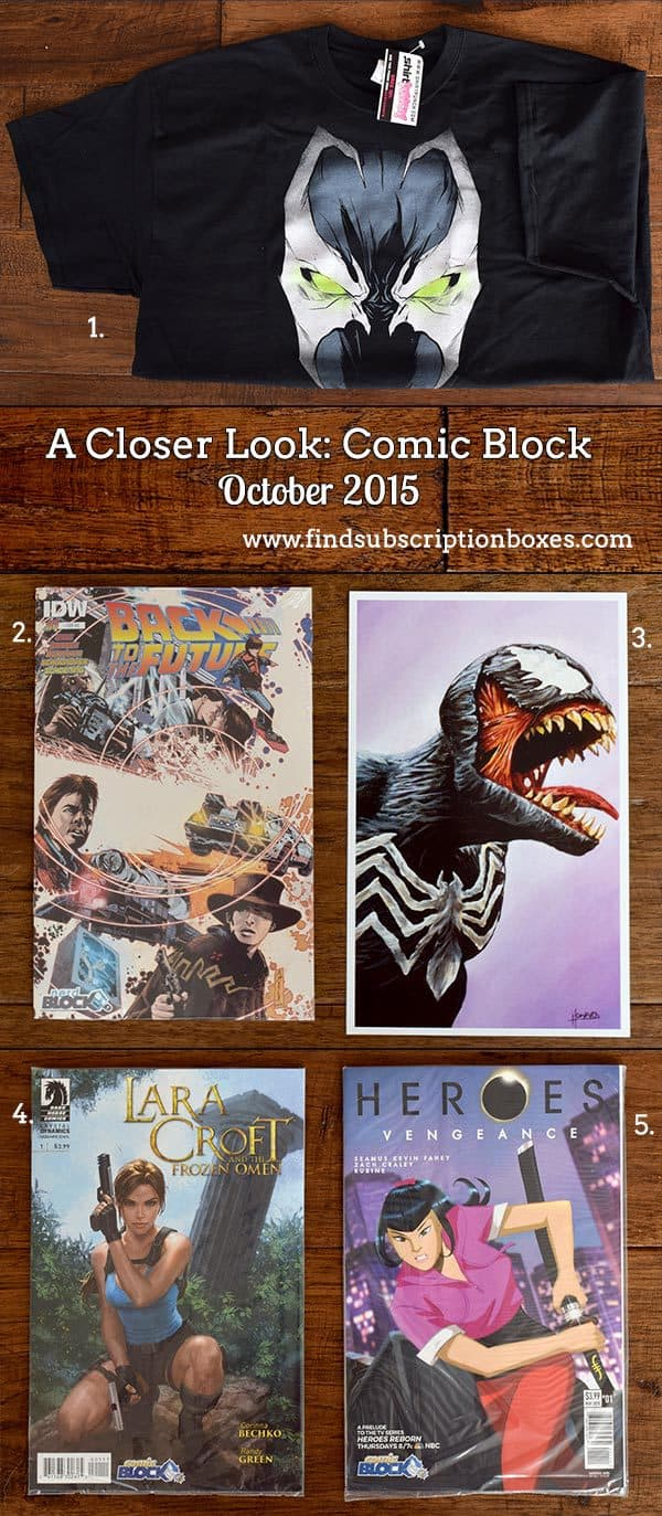 Comic Block Review - October 2015 Inside the Box