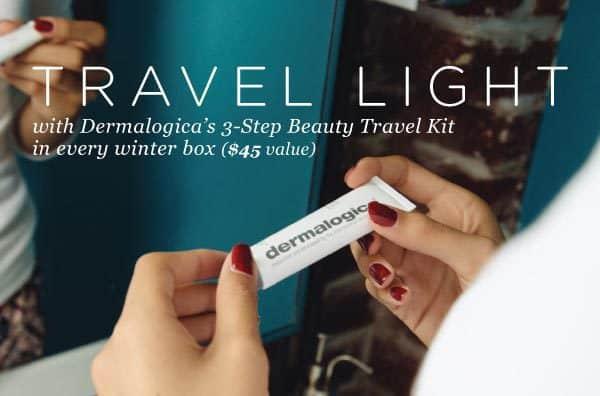 FabFitFun VIP Box Winter 2015 Box Spoiler Dermalogica Travel Kit
