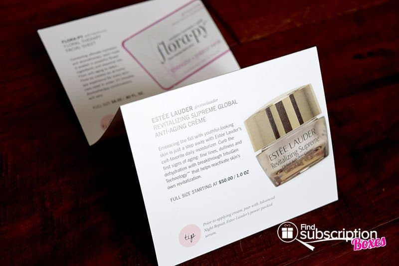 GLOSSYBOX Review - November 2015 Product Card
