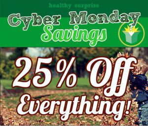 Healthy Surprise Cyber Monday Sale - Save 25% off