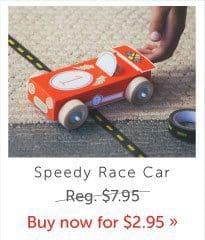 Kiwi Crate Speedy Race Car -Kiwi Crate Stocking Stuffers Just $1.47