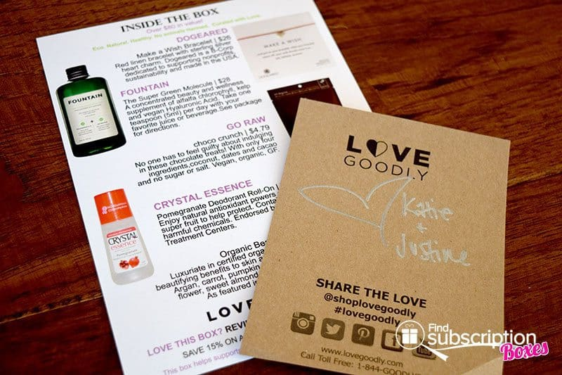 LOVE GOODLY Review - October/November 2015 Product Card