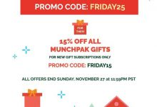 MunchPak Black Friday - Save 25%