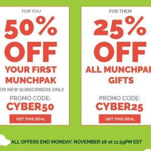 MunchPak Cyber Monday Sale