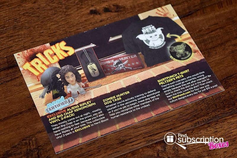 Nerd Block Review - Trick or Treat October 2015 Product Card