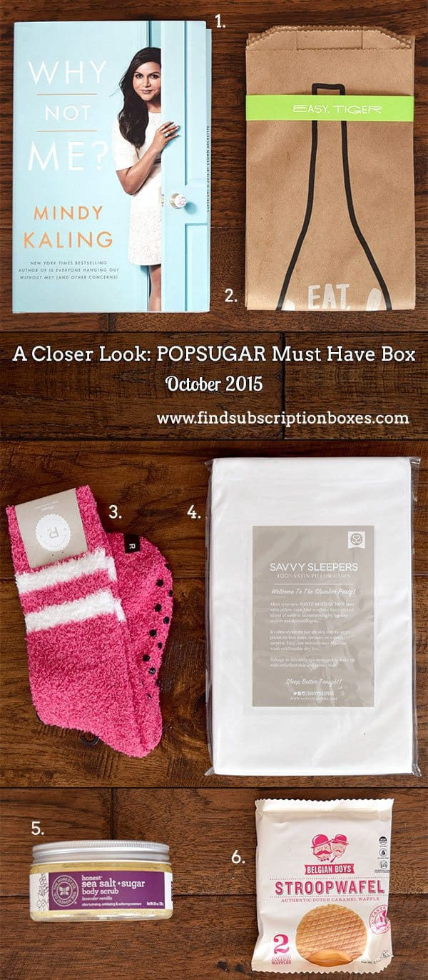 POPSUGAR Must Have Box Review - October 2015 Inside the Box