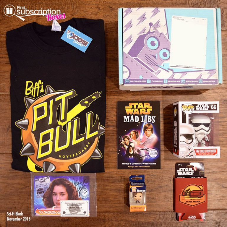 Sci-Fi Block Review - November 2015 Box Contents