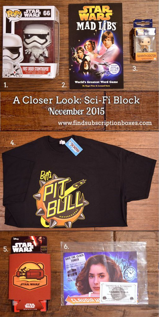 Sci-Fi Block Review - November 2015 Inside the Box
