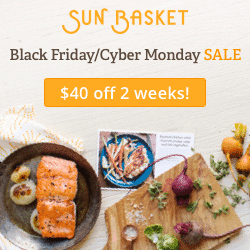 Sun Basket Cyber Monday Sale - 4 Free Meals