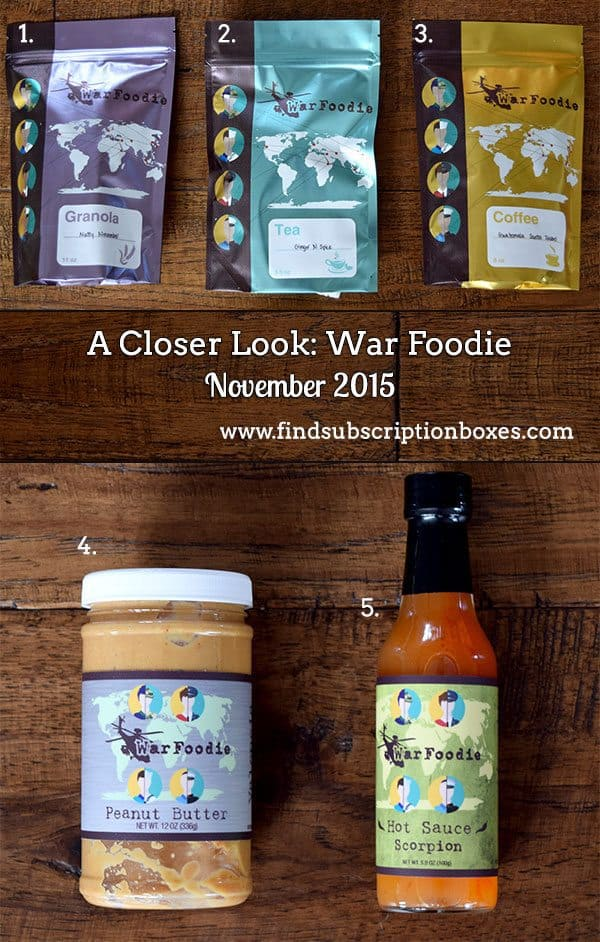 War Foodie Review November 2015 Inside the Box