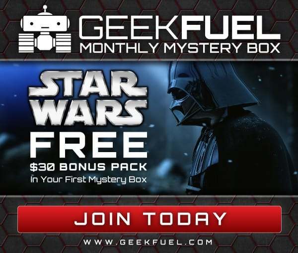 Free Star Wars Gift Pack with New Geek Fuel Subscriptions