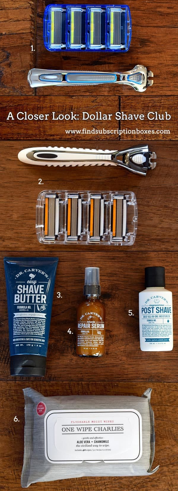 Dollar Shave Club Review - Inside the Box