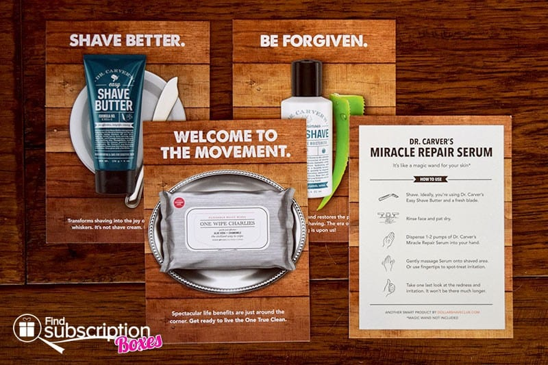 Dollar Shave Club Review - Product Cards