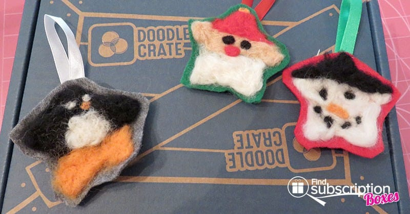 Doodle Crate Felted Ornaments Crate Review