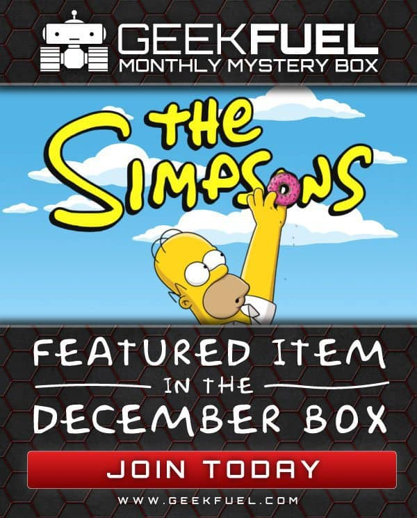 Geek Fuel December 2015 Box Spoiler - The Simpsons
