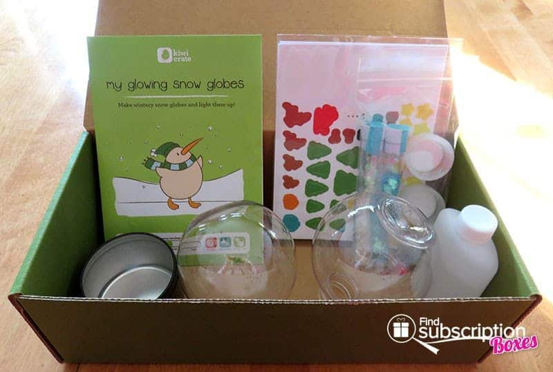Kiwi Crate My Glowing Snow Globes Crate Review - Activity Kit