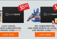 $5 Off Loot Crate Subscriptions