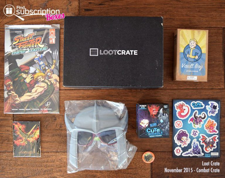 November 2015 Loot Crate Review - Box Contents
