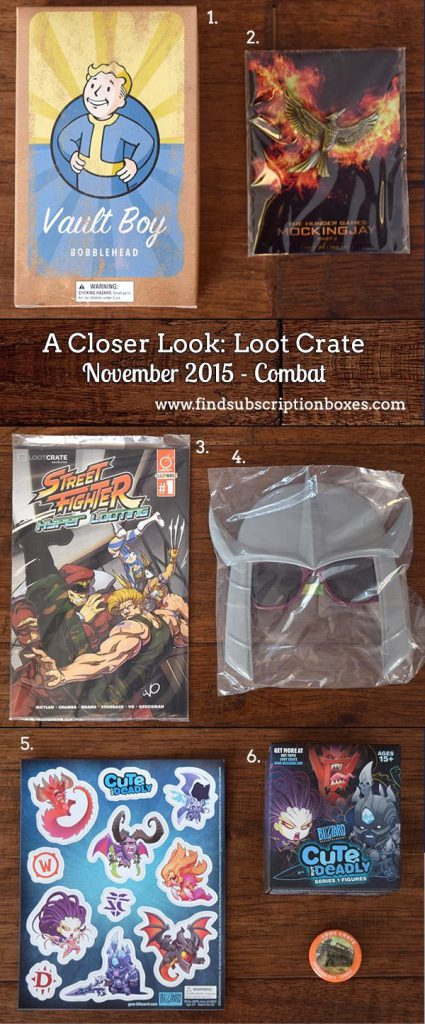 November 2015 Loot Crate Review - Inside the Box