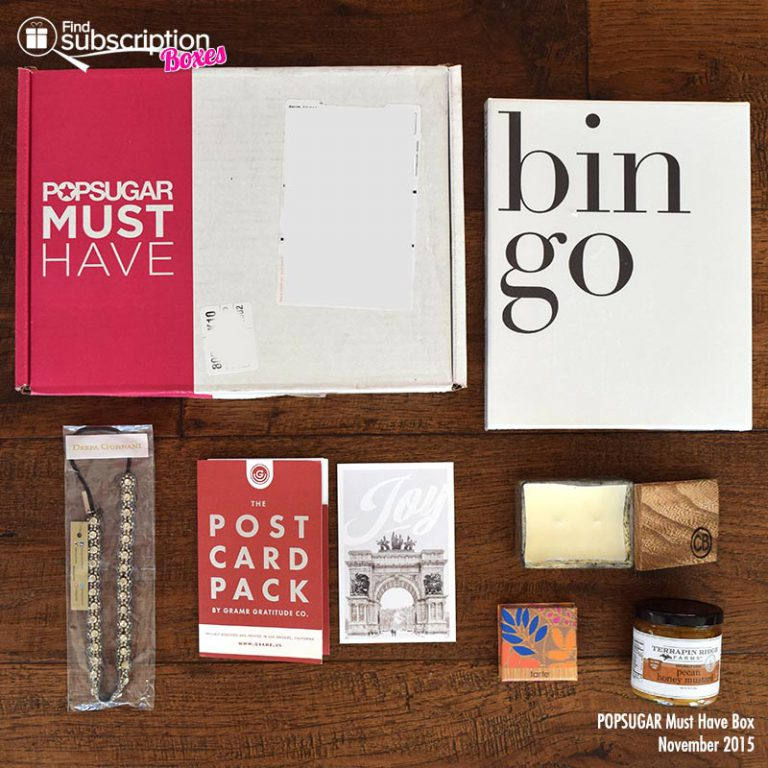 November 2015 POPSUGAR Must Have Box Review - Box Contents