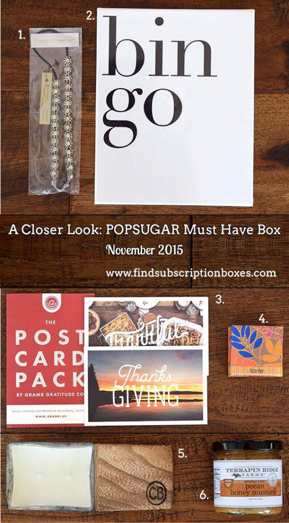 November 2015 POPSUGAR Must Have Box Review - Inside the Box