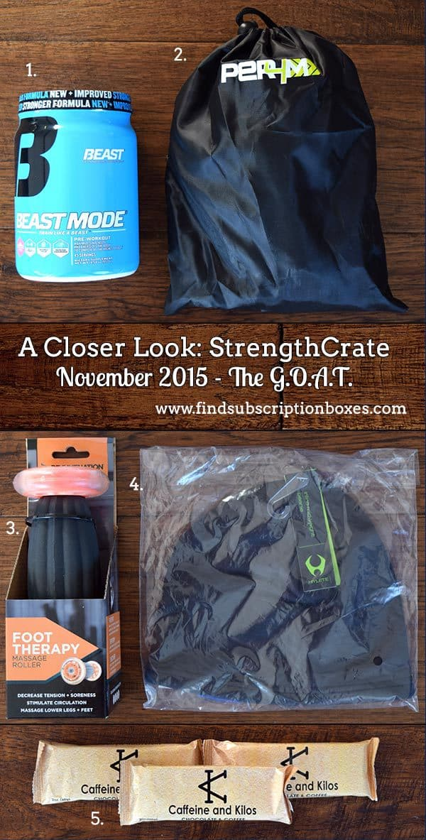 November 2015 StrengthCrate Review - The G.O.A.T. Crate - Inside the Box