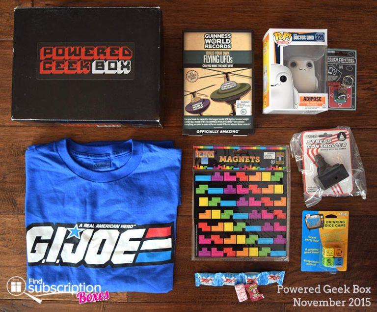 Powered Geek Box November 2015 Review - Box Contents