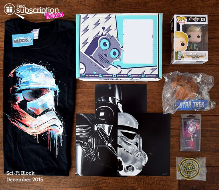 Sci-Fi Block Review December 2015 - Box Contents