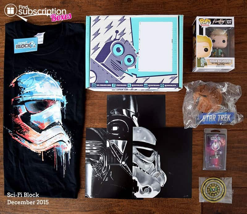 December 2015 Sci-Fi Block Review- Box Contents