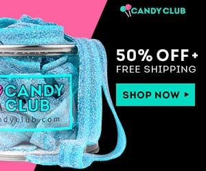 Candy Club Coupon = Save 50% Off Your 1st Candy Club Box + FREE Shipping -