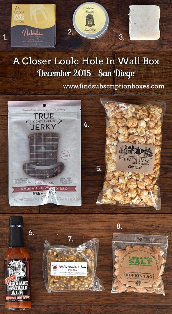 December 2015 Hole In Wall Box Review - San Diego - Inside the Box