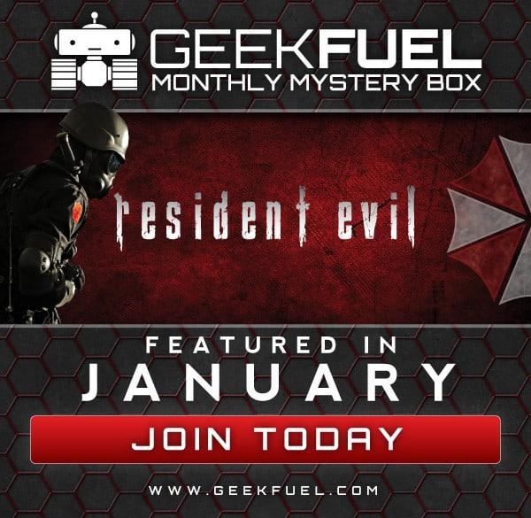 Geek Fuel January 2016 Box Spoiler - Resident Evil