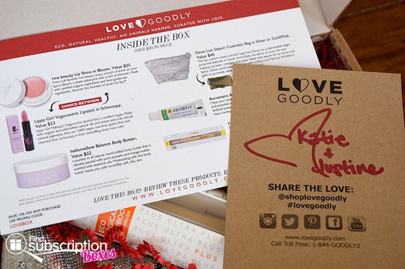 LOVE GOODLY Review - December/January 2016 Holiday Box Product Card
