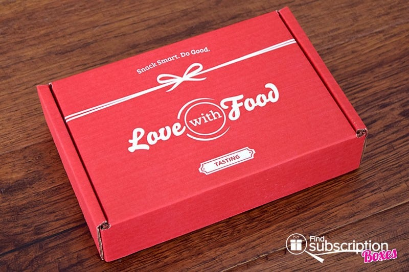Love With Food January 2016 Tasting Box Review - Box