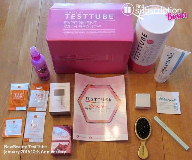 NewBeauty TestTube January 2016 Box Review - Box Contents