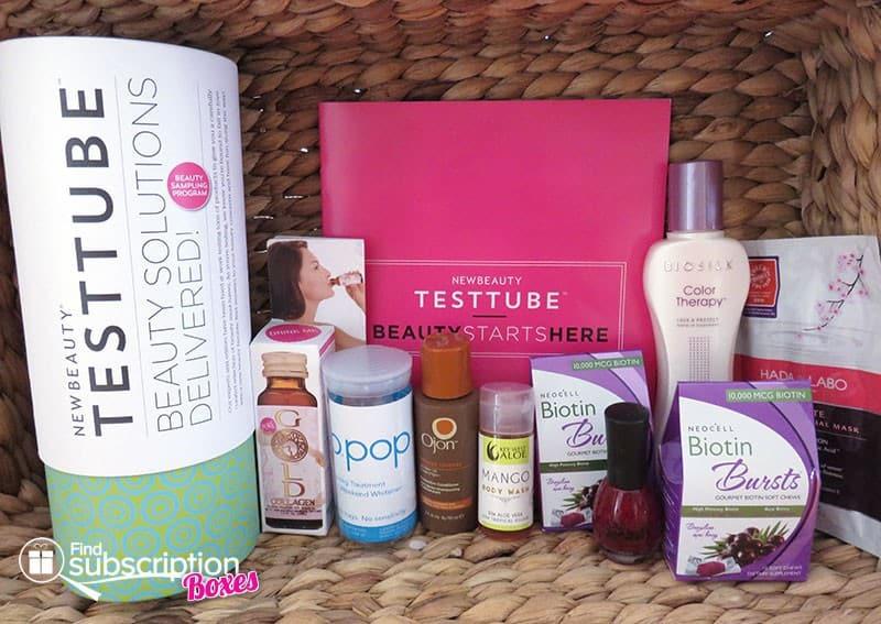 NewBeauty TestTube November 2015 Box Contents