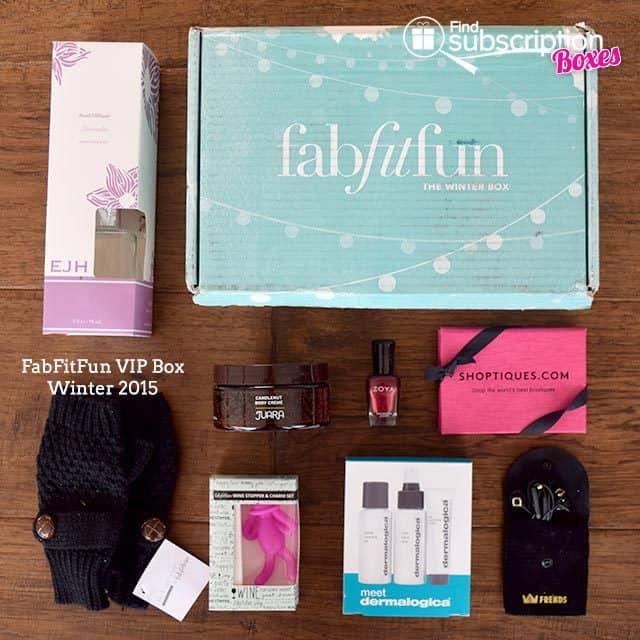 Winter 2015 FabFitFun VIP Box Review - Box Contents