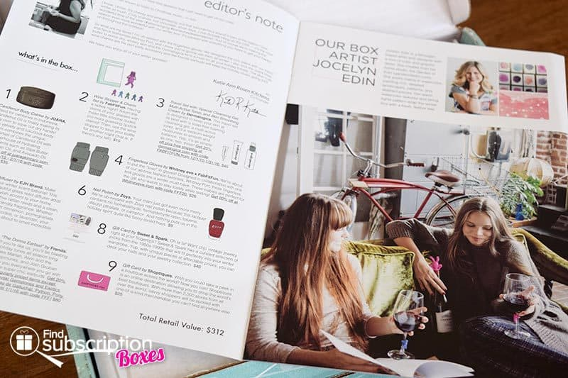 Winter 2015 FabFitFun VIP Box Review - Magazine