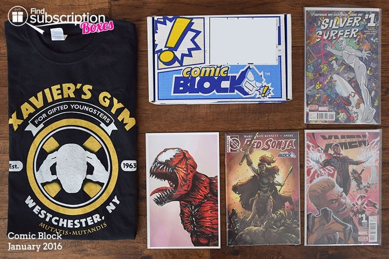 January 2016 Comic Block Box Review - Box Content