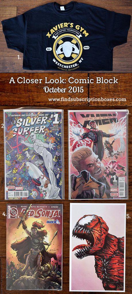 Comic Block January 2016 Box Review - Inside the Box