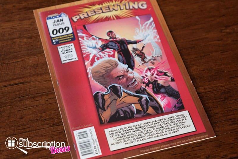 Comic Block January 2016 Box Review - Product Card