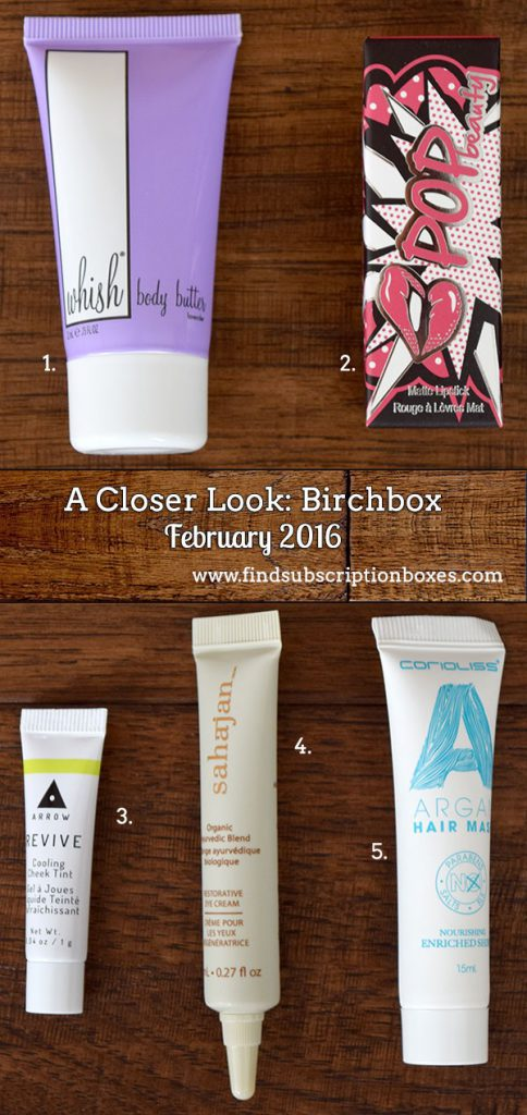 February 2016 Birchbox Review - Inside the Box