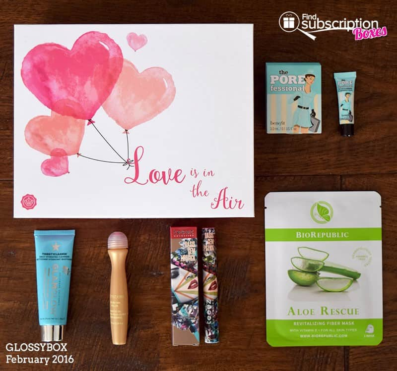 February 2016 GLOSSYBOX Review - Box Contents