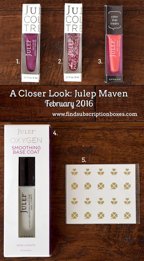 February 2016 Julep Maven Review - Inside the Box